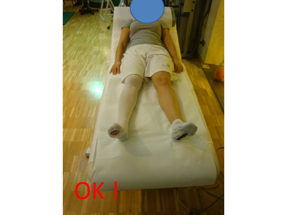 mantenere le gambe divaricate