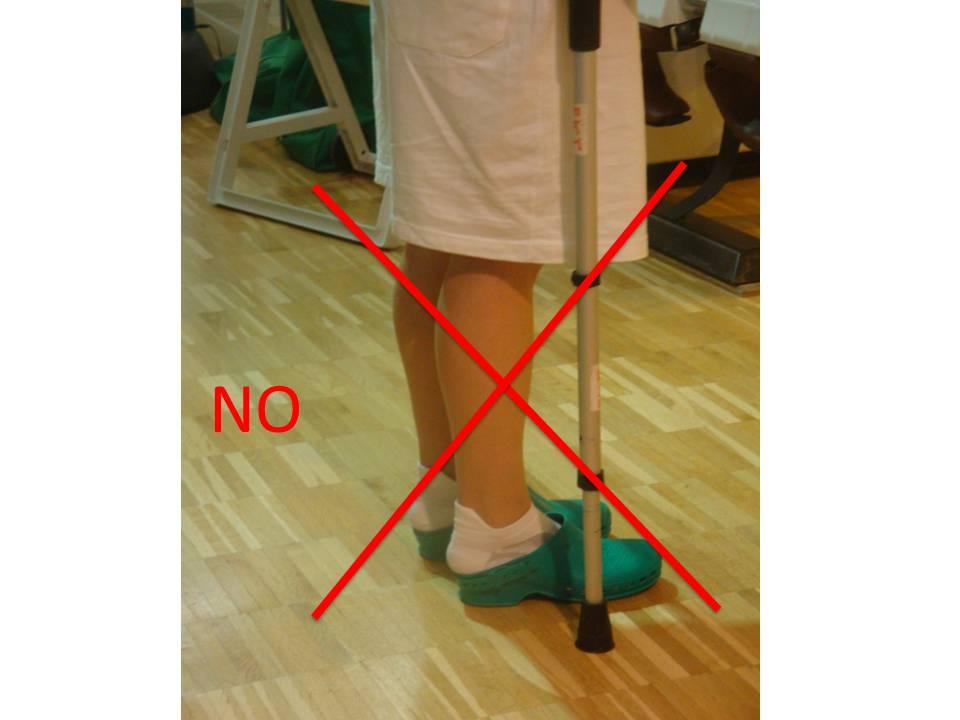 Non indossare pantofole o ciabatte