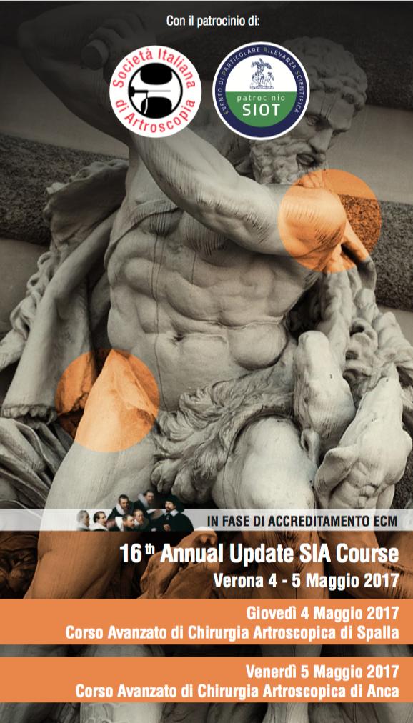 Corso Avanzato di Chirurgia Artroscopia dell'Anca. 16th Annual Update SIA Course